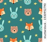 cute seamless pattern with... | Shutterstock .eps vector #1530952790