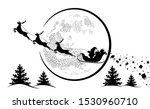 santa claus in sleigh and...   Shutterstock .eps vector #1530960710