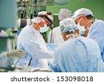 team of surgeon in uniform...   Shutterstock . vector #153098018