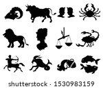 vector black silhouettes of... | Shutterstock .eps vector #1530983159