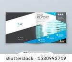 blue square brochure cover... | Shutterstock .eps vector #1530993719