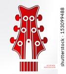 vector paper headstock guitar.   Shutterstock .eps vector #153099488