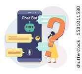 messenger chatbot concept... | Shutterstock .eps vector #1531011530