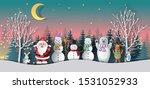 paper art style of santa claus... | Shutterstock .eps vector #1531052933