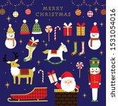 christmas image set  vector... | Shutterstock .eps vector #1531054016
