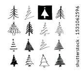 Set Of Hand Drawn Christmas...
