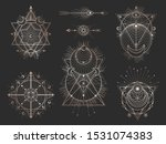 vector set of sacred geometric... | Shutterstock .eps vector #1531074383
