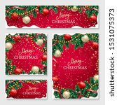 christmas banners set with fir... | Shutterstock .eps vector #1531075373