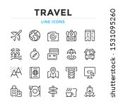 travel line icons set. modern... | Shutterstock .eps vector #1531095260