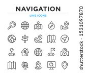 navigation line icons set.... | Shutterstock .eps vector #1531097870