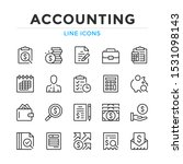 accounting line icons set.... | Shutterstock .eps vector #1531098143