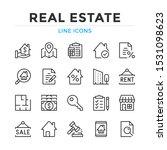 real estate line icons set.... | Shutterstock .eps vector #1531098623