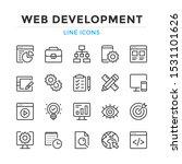 web development line icons set. ... | Shutterstock .eps vector #1531101626