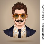 fashionable male character...   Shutterstock .eps vector #153110693