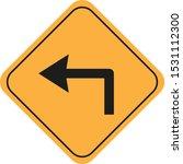 symbol of left turn signal   Shutterstock .eps vector #1531112300