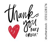 thank you for order. hand...   Shutterstock .eps vector #1531128176