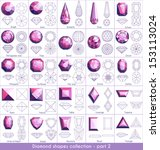 diamond shapes collection  ...   Shutterstock .eps vector #153113024