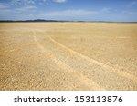 Gravel Desert Tire Marks