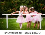 Group Of Little Girls Doing...