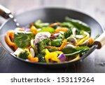 vegetarian wok stir fry | Shutterstock . vector #153119264