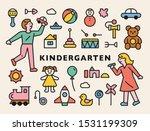 kindergarten children... | Shutterstock .eps vector #1531199309