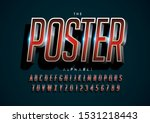 vector of stylized modern font... | Shutterstock .eps vector #1531218443