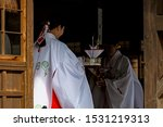 Stock photo scenery of the shinto style wedding ceremony in japan 1531219313