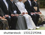 Stock photo scenery of the shinto style wedding ceremony in japan 1531219346