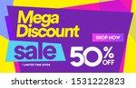50 off mega discount  sales...   Shutterstock .eps vector #1531222823