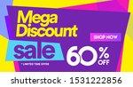 60 off mega discount  sales... | Shutterstock .eps vector #1531222856