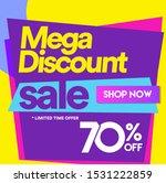 70 off mega discount  sales... | Shutterstock .eps vector #1531222859