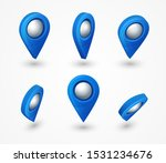 blue map pointer 3d pin with... | Shutterstock .eps vector #1531234676