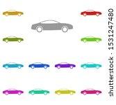 car  transport multi color icon....