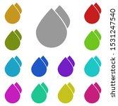 water drops multi color icon....