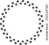 paw prints in frame shape | Shutterstock . vector #153124760