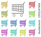 shopping cart multi color icon. ...