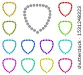 necklace  beads multi color...