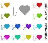 a heart multi color icon....