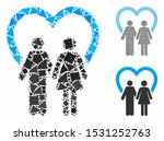 marriage mosaic of inequal... | Shutterstock .eps vector #1531252763