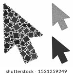 mouse pointer mosaic of inequal ...   Shutterstock .eps vector #1531259249