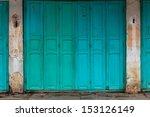 Wooden Front Door To The House  ...