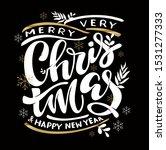 winter holidays   merry... | Shutterstock .eps vector #1531277333