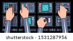 Spaceship Control Panel With...