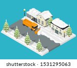 snow removal from road scene...   Shutterstock .eps vector #1531295063
