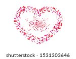 heart confetti isolated white... | Shutterstock .eps vector #1531303646