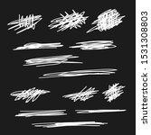 scribble brush strokes set ... | Shutterstock .eps vector #1531308803