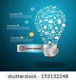 creative light bulb idea with...   Shutterstock .eps vector #153132248