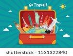 tourist set travel around the... | Shutterstock .eps vector #1531322840