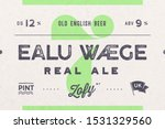 vintage label. set of graphic... | Shutterstock . vector #1531329560