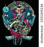 Abstract Cyberpunk Geisha Robot ...